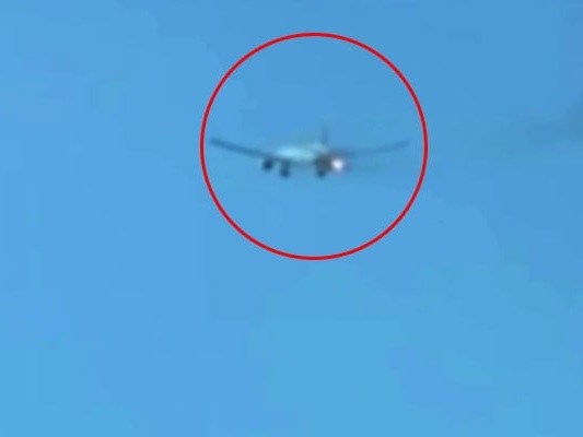 Caught On Camera: Plane Makes Emergency Landing As Engine Flames