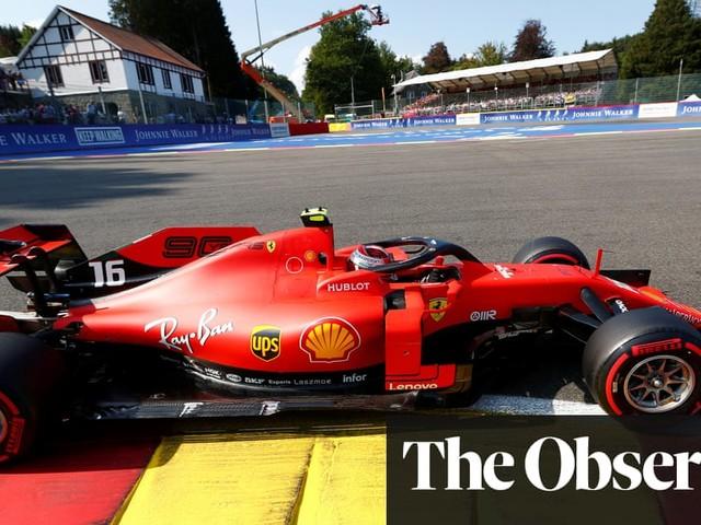 Charles Leclerc on Belgian F1 GP pole in Ferrari lockout with Vettel