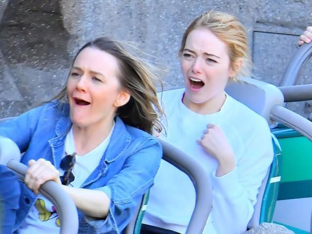 Emma Stone Enjoying Rides at Disneyland Is All of Us -- See the Hilarious Pics!