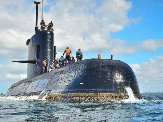 Missing Argentine submarine found deep in Atlantic a year after it disappeared with 44 aboard