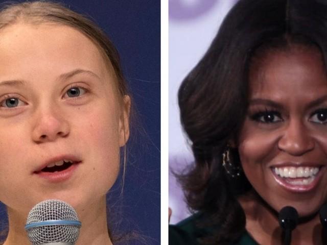 Michelle Obama sent Greta Thunberg a public message of solidarity following Trump's vitriolic attack on her