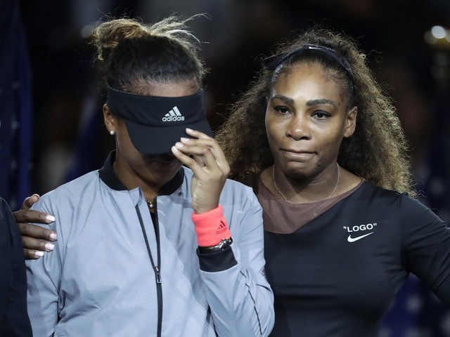 Osaka: Serena says 'proud' of her on US Open trophy stand