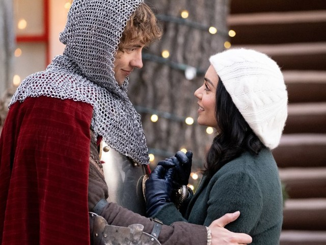 Vanessa Hudgens adds time travel to her Netflix Christmas career with The Knight Before Christmas