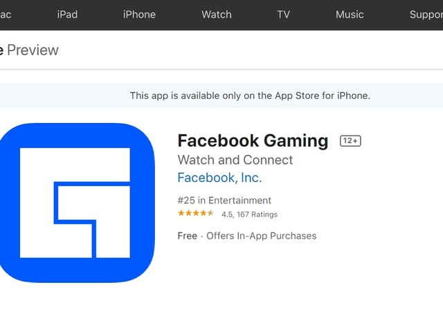 Facebook Gaming iOS App Launched Without Key Feature: Here's Why