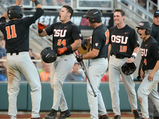 College World Series 2017 scores and bracket: Oregon State chases LSU out of the park