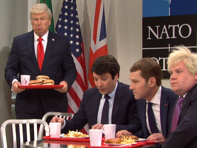 'S.N.L.': Paul Rudd, Jimmy Fallon and James Corden Rule the NATO Cafeteria