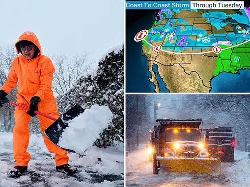 West to East coast faces cold blast with heavy snow predicted from Washington to New Mexico