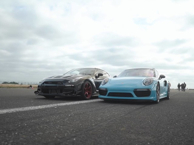 Drag Battle Of The Titans: 1570 HP Nissan GT-R Vs 1600 HP Porsche 911 Turbo S