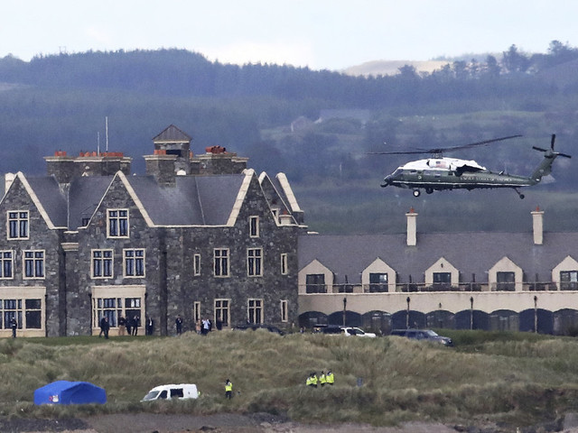 $100,000 tab charged to Irish police raises issues about Trump's visit to his Irish golf resort