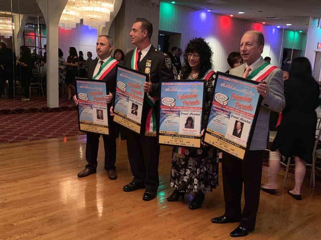 Italian heritage group honors Columbus Day Parade marshals