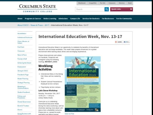 International Education Week, Nov. 13-17