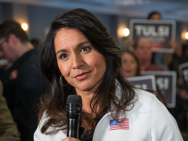 In The Final Hour Before The New Hampshire Primary, Tulsi Gabbard Goes All Out