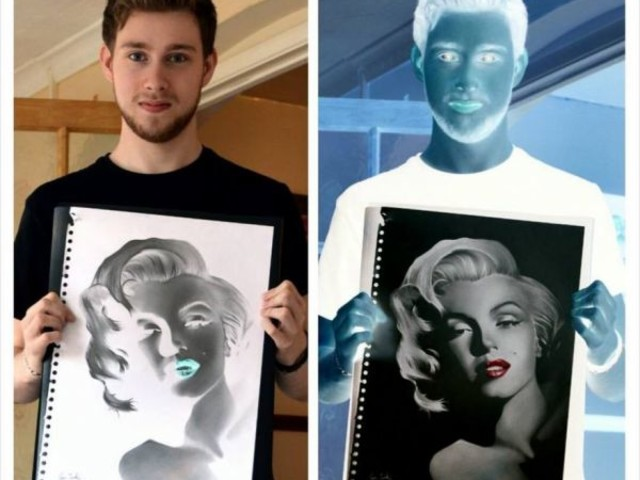 Celebrities Drawn In the Negative