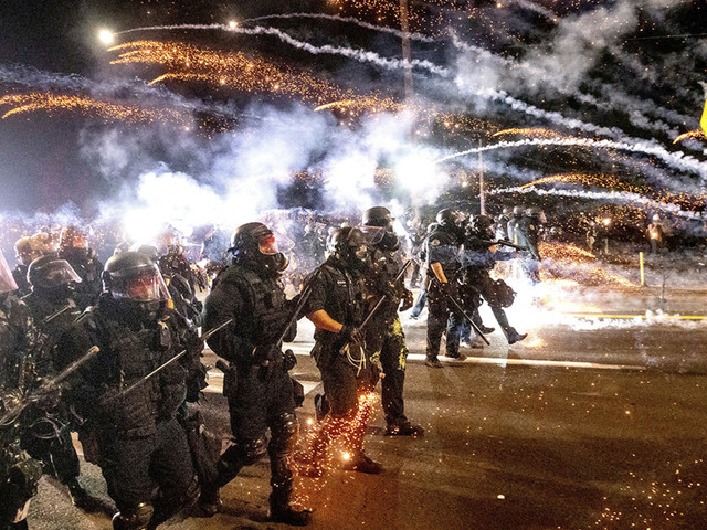 Entire 50-member Portland crowd control unit resigns after officer indicted for assault on protester