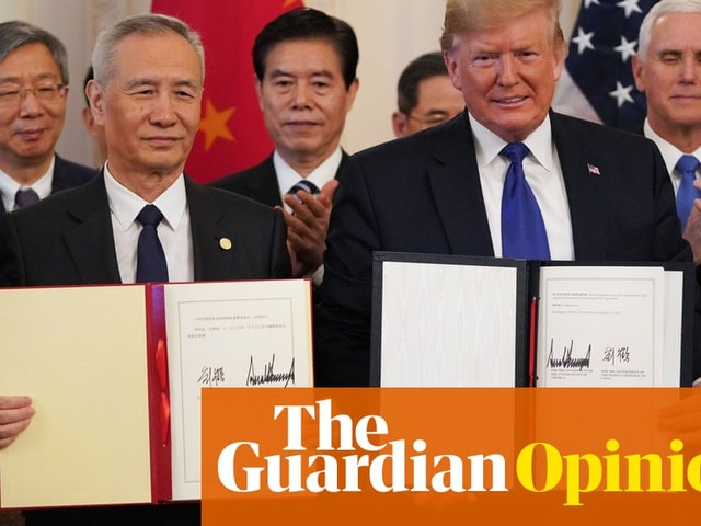 Limp US-China trade deal keeps investors happy –at least for now | Nils Pratley