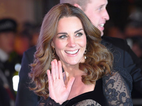 Kate Middleton Stuns In Skintight Black Lace Gown At Royal Variety Performance – Pics