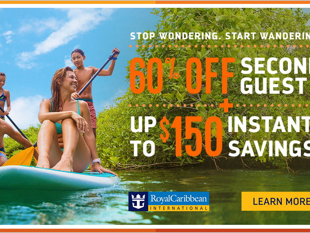 Royal Caribbean offering 60% off second guest, kids sail free and bonus instant savings in February