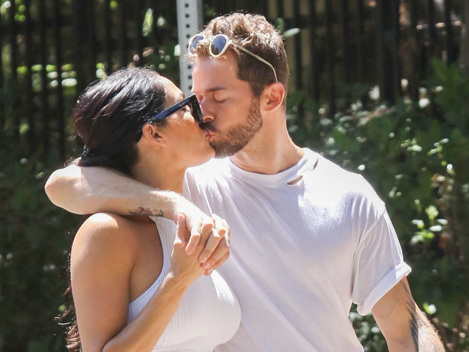 Nikki Bella Shares A Sweet Kiss With BF Artem Chigvintsev & Flashes Abs In Crop Top On Hike – Pic