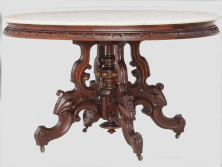Antique Marble Top End Table