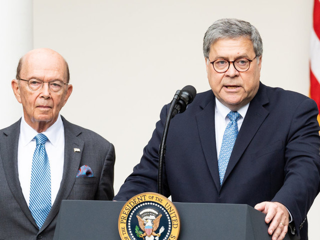 U.S. House holds Barr, Ross in criminal contempt over census documents