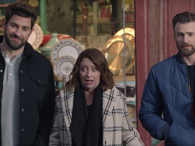 """Chris Evans and John Krasinski Play Up Their Boston Accents in """"Wicked Smaht"""" Super Bowl Ad"""
