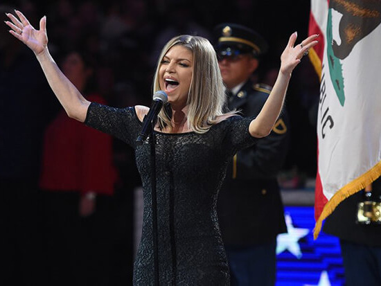"""Fergie's """"Star-Spangled Banner"""" Rendition Goes Viral For The Wrong Reasons"""