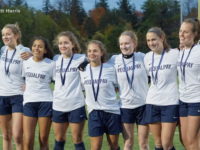 Vermont high school soccer players removed from game for #EqualPay shirts