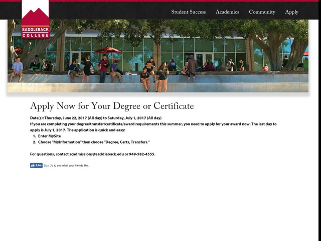 Apply Now for Your Degree or Certificate