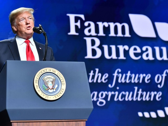 In Speech To Struggling Farmers, President Trump Promotes Border Wall