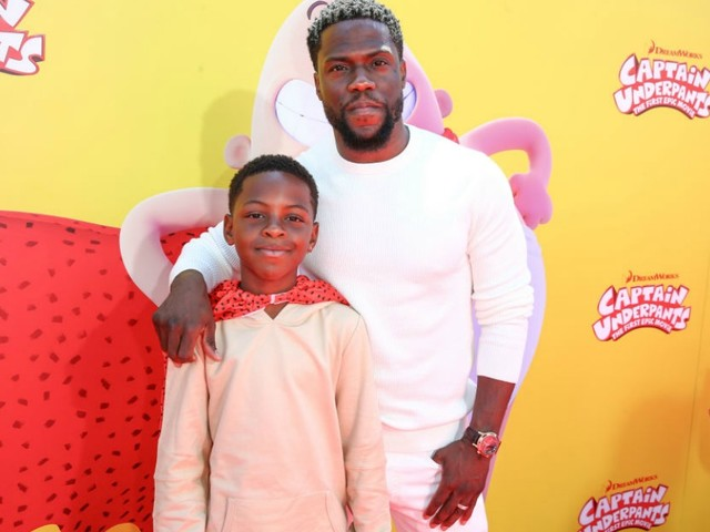 """Kevin Hart And Son Hendrix Spend """"Father And Son Quality Time"""" Together At The Gym"""