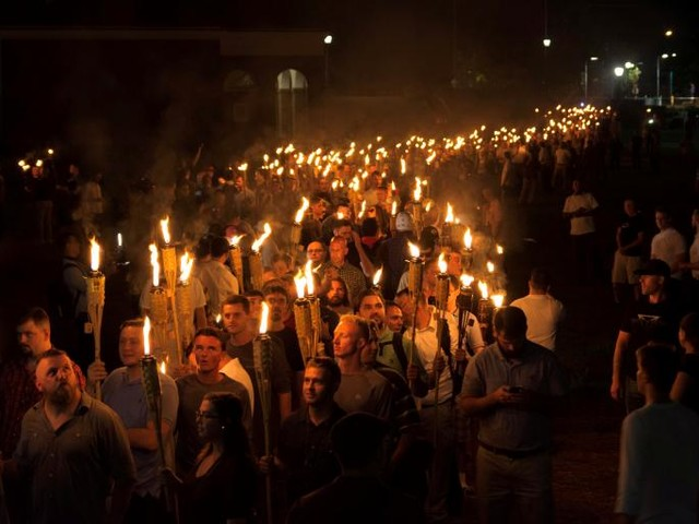 Torch-Bearing White Supremacists March at University of Virginia