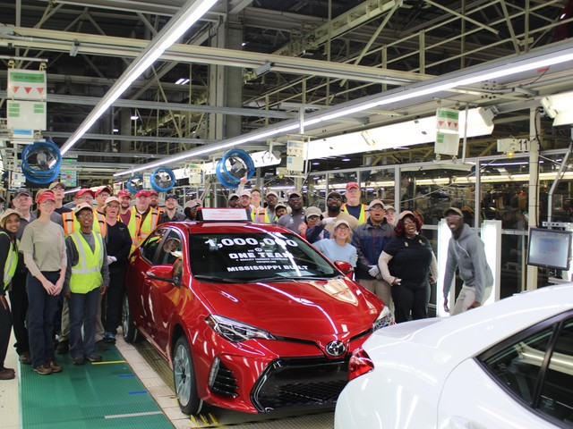1 Millionth Toyota Corolla Rolls off the Line in Mississippi