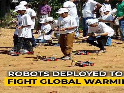 Chennai Students Use Robots To Plant 300 Saplings, Raise Micro-Forest