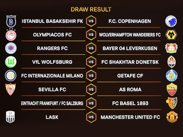 Manchester United To Play Austria's LASK In Europa League Last 16