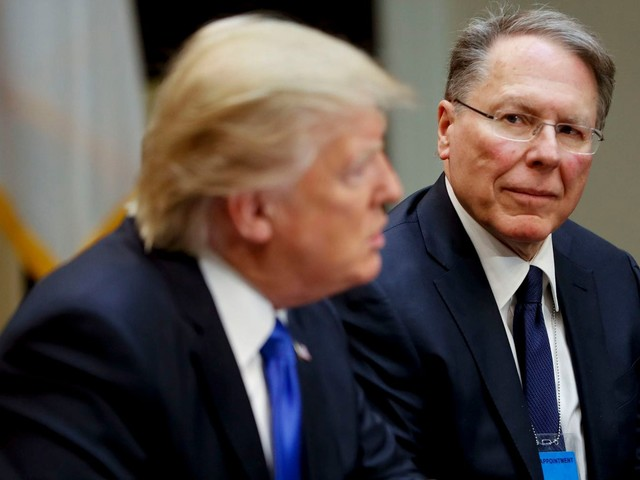 Trump tells NRA chief that universal background checks are off the table