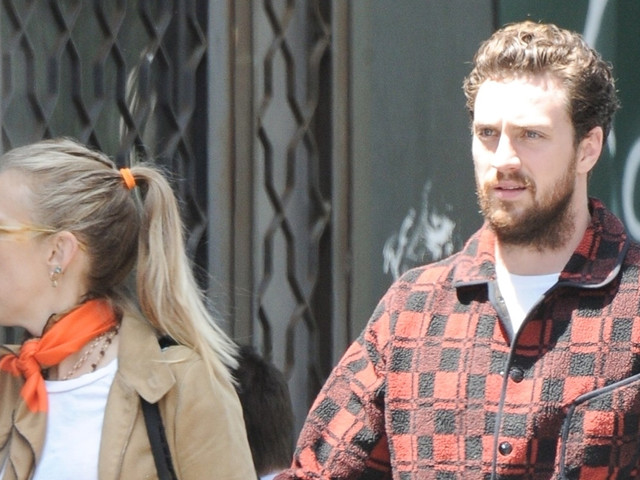 Aaron Taylor-Johnson Heads to Lunch with Wife Sam