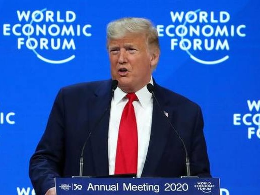 U.S. seeing economic boom never seen by world, says Trump at World Economic Forum in Davos