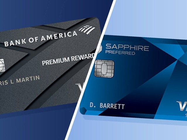 Credit card face-off: Bank of America Premium Rewards vs. the Chase Sapphire Preferred