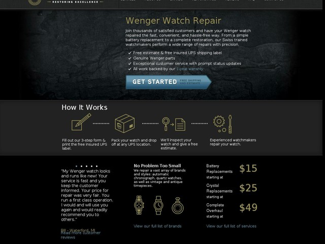 Wenger Repairs - Watch Repairs USA