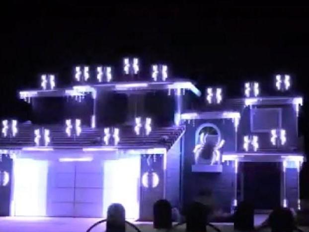 Watch: California man's Halloween light show draws spectators