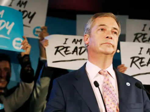 In Major Reversal, Farage Says Brexit Party Won't Challenge Tory-Held Seats