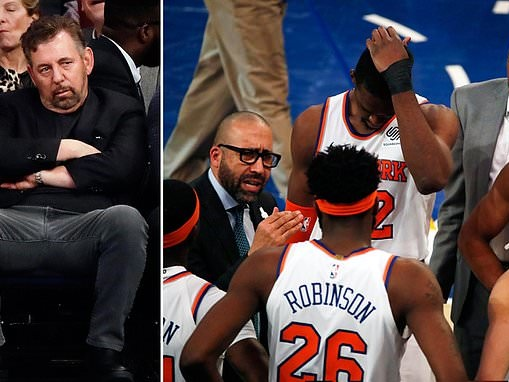 Knicks owner James Dolan is 'courting offers' for the last-place team valued at $4billion
