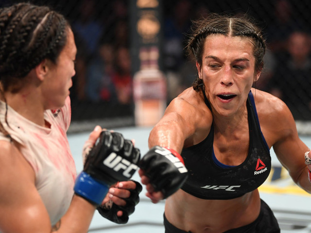 'Bow down!' Joanna Jedrzejczyk targets UFC strawweight crown after dominant win over Michelle Waterson