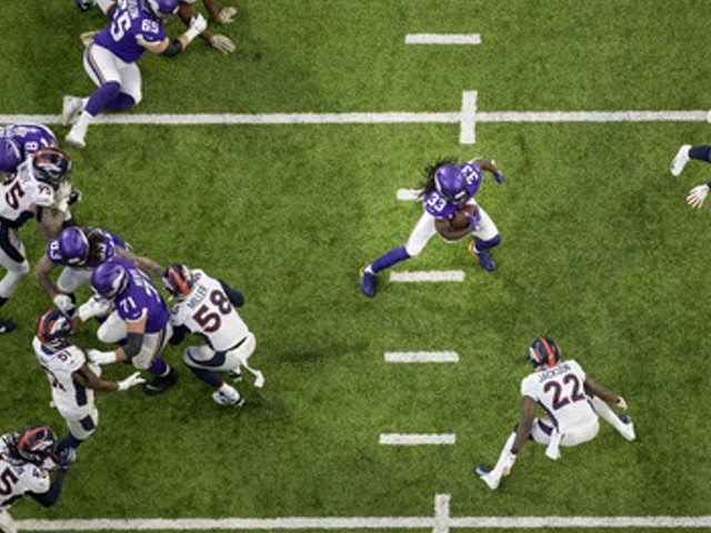 Vikings' win over Broncos is their first without a running game