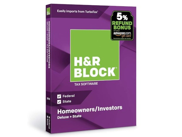 Do your taxes for cheap! H&R Block Tax Software Deluxe is on sale for just $18