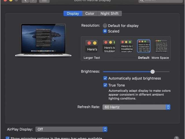 16-Inch MacBook Pro Features Adjustable Refresh Rate Below 60Hz