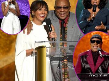 All The Stars Are Closer For Quincy Jones' 85th Birthday! Oprah, New Mom Rashida Jones, Stevie Wonder, JHud, Yolanda Adams, Fantasia & Tons More