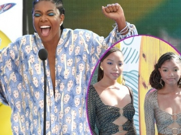 Gabrielle Union Excitedly Accepts Award During Teen Choice Awards + Chloe x Halle, Ryan Destiny & More Flex On The Carpet