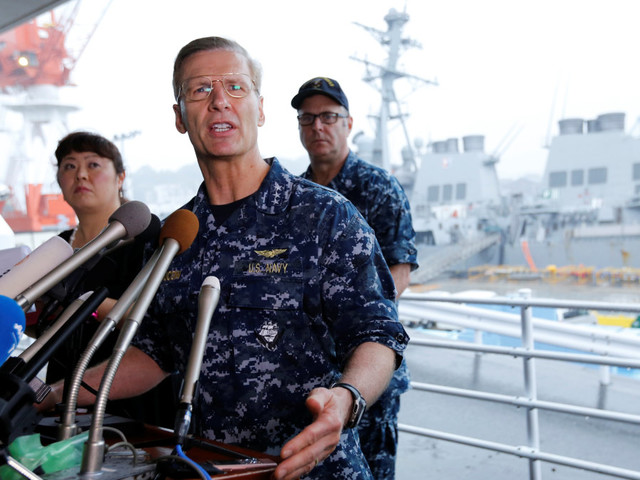 US Navy relieves Seventh Fleet commander in wake of collisions in Asia