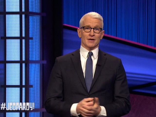 Anderson Cooper pays tribute to Alex Trebek as 'Jeopardy!' guest host